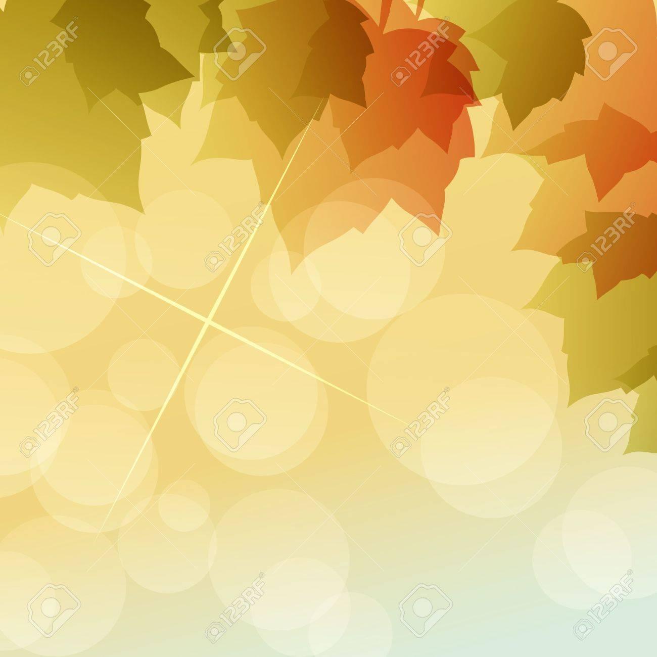maple of autumn background Stock Vector - 12482509