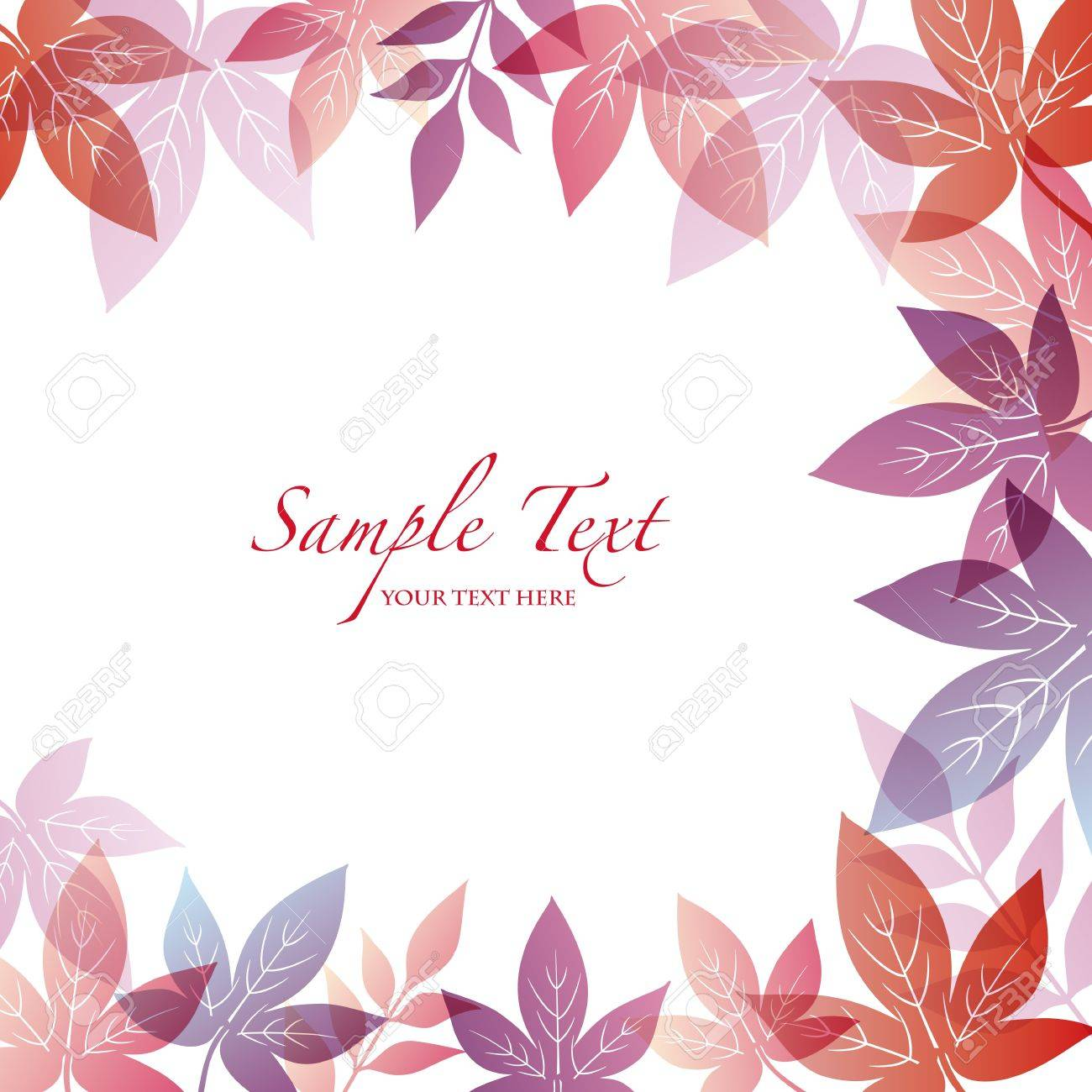 autumn background with maple Stock Vector - 12482368