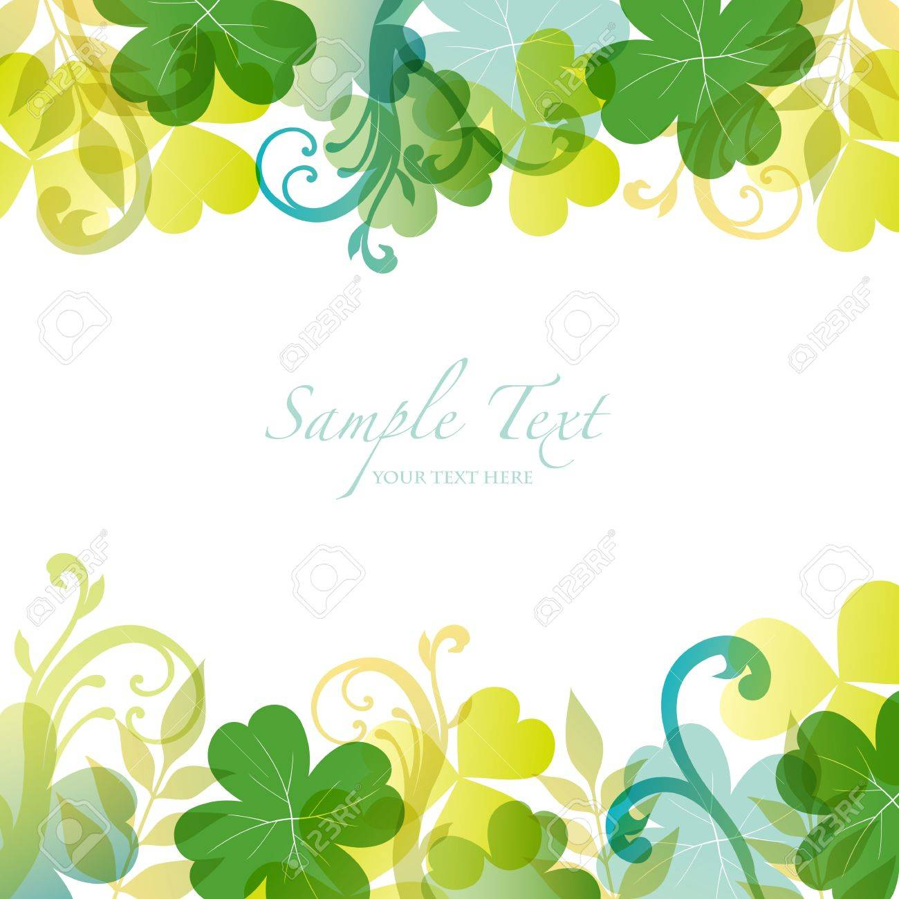 spring background with clover Stock Vector - 12482882