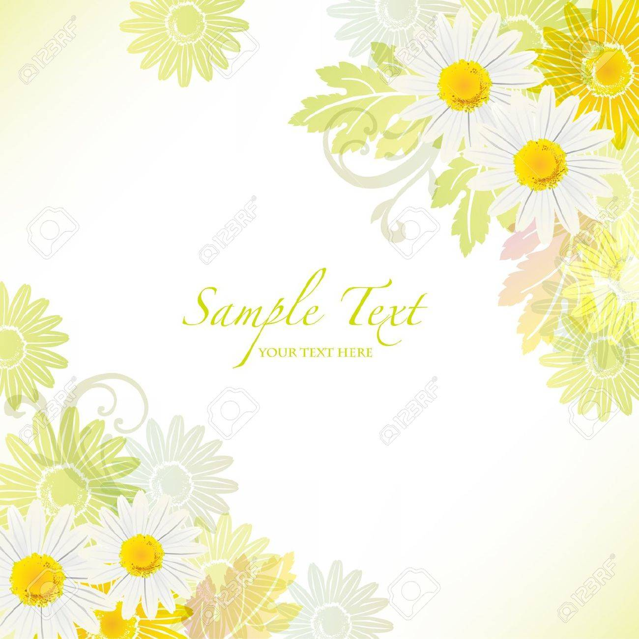 spring background with daisy Stock Vector - 12539913