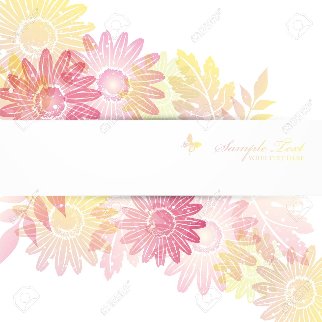 daisies background Stock Vector - 12814762