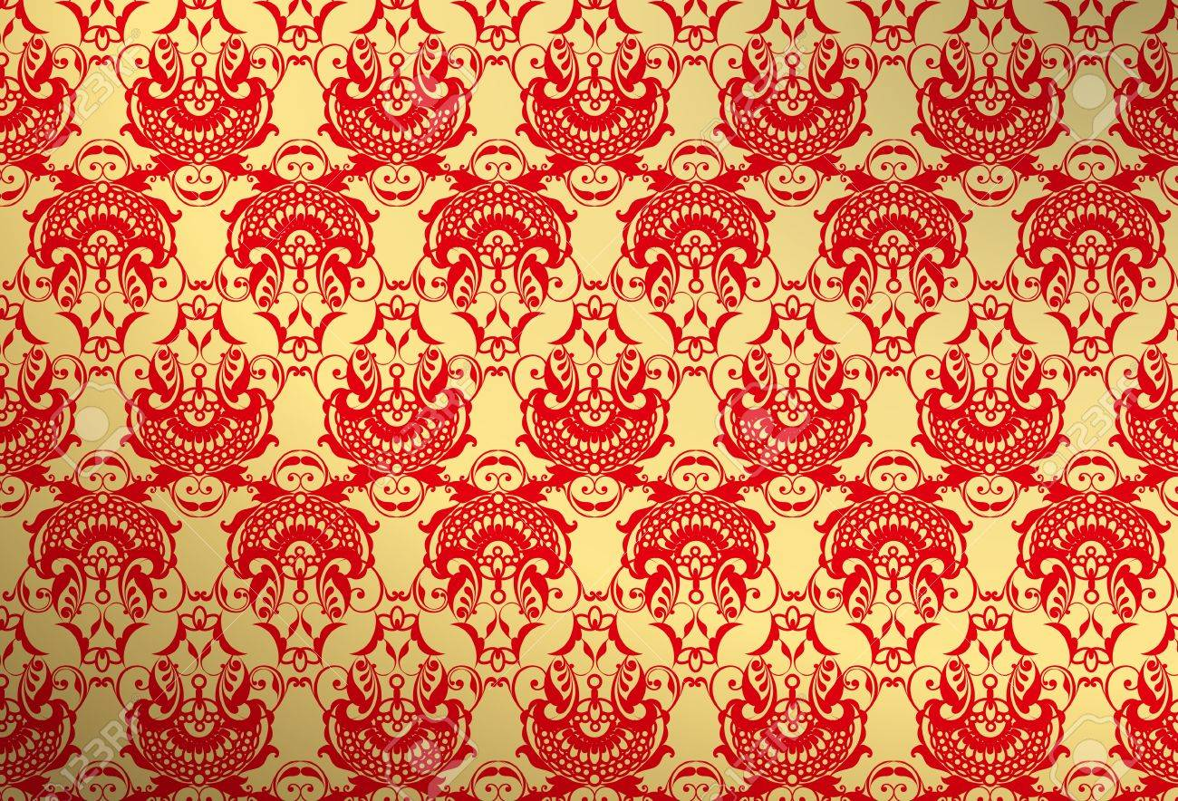 Gold And Red Wallpaper