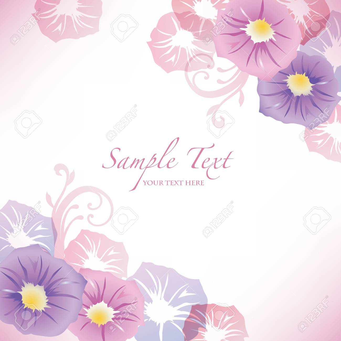 morning glory background Stock Vector - 13171831