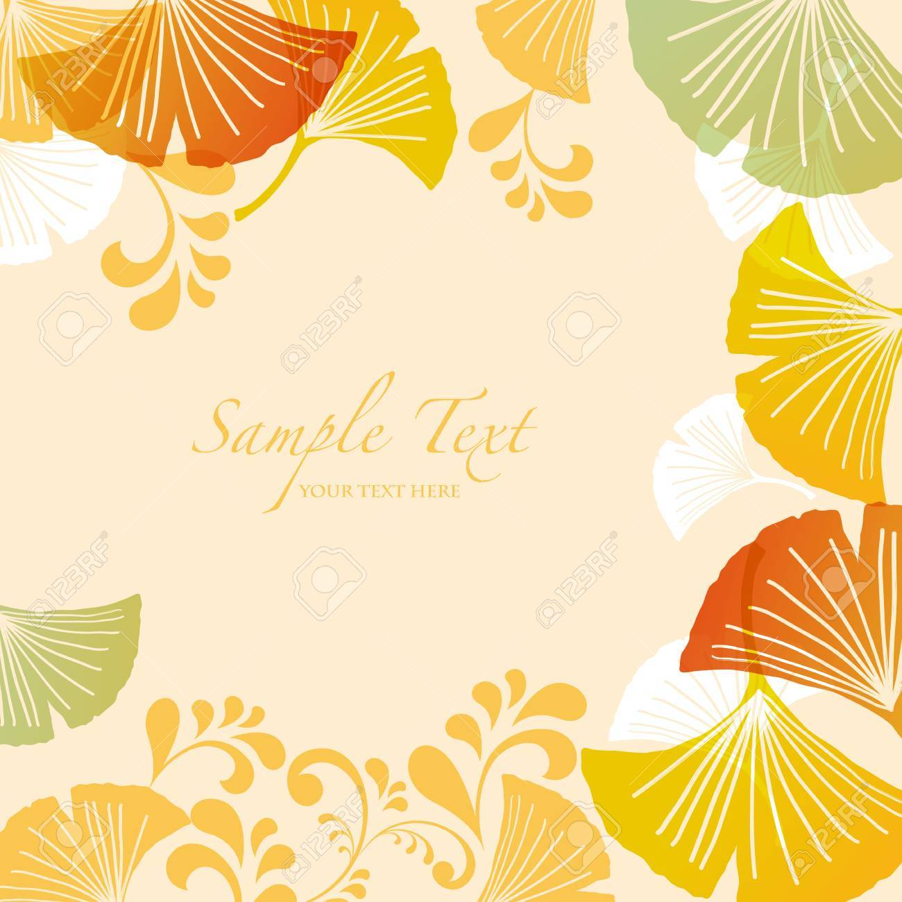 ginkgoes background Stock Vector - 14644433
