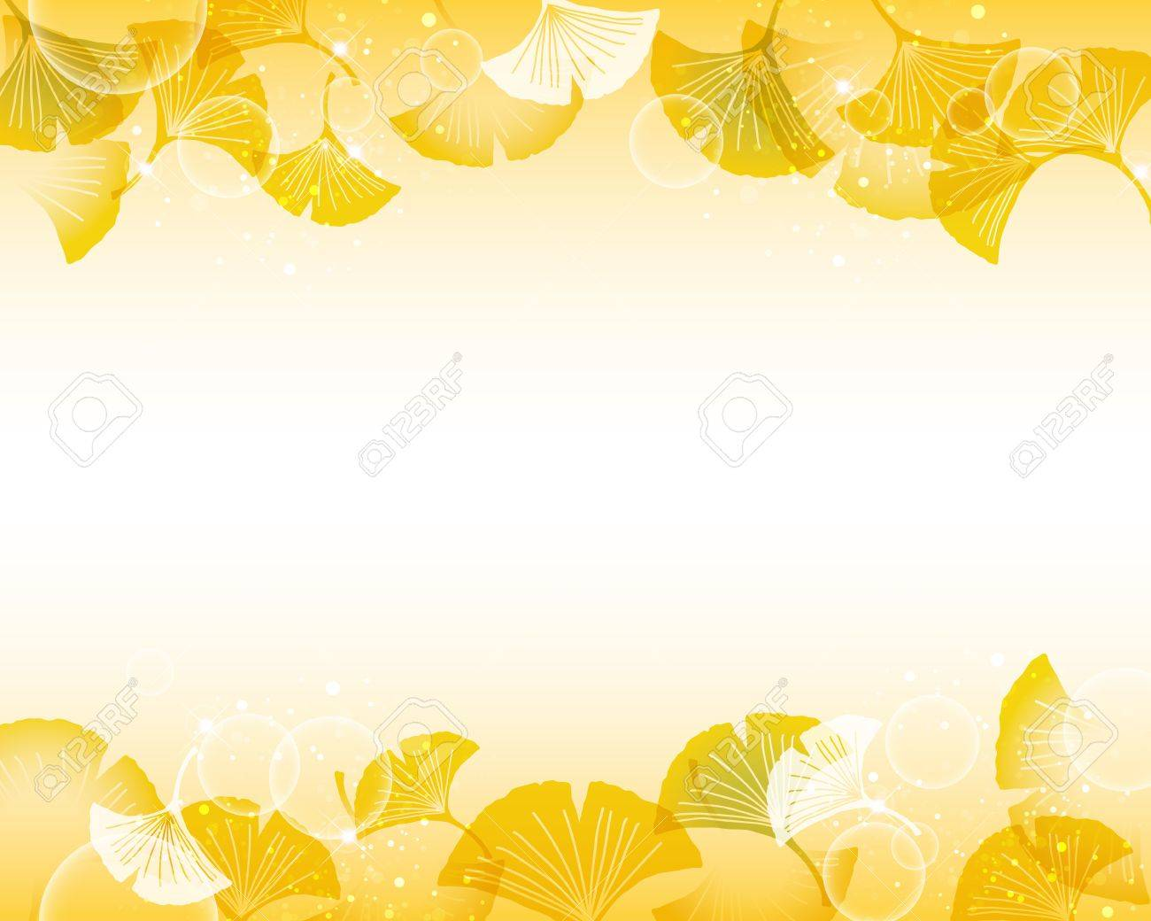 ginkgoes background Stock Vector - 14689584