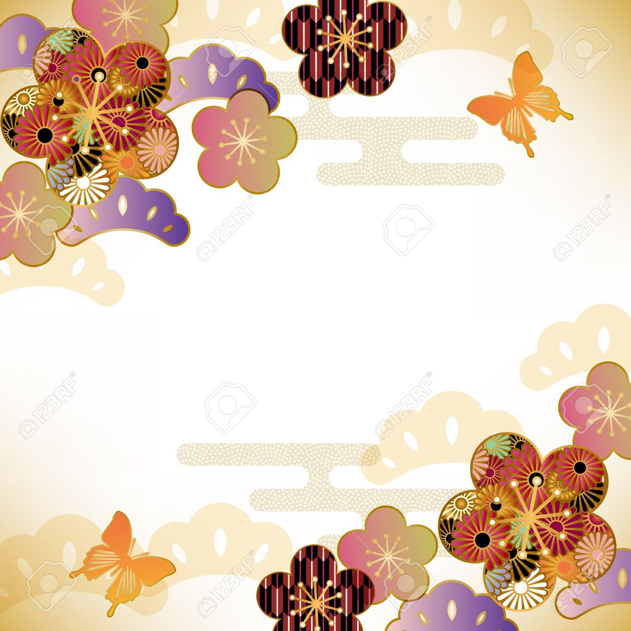japanese motif background Stock Vector - 14772675