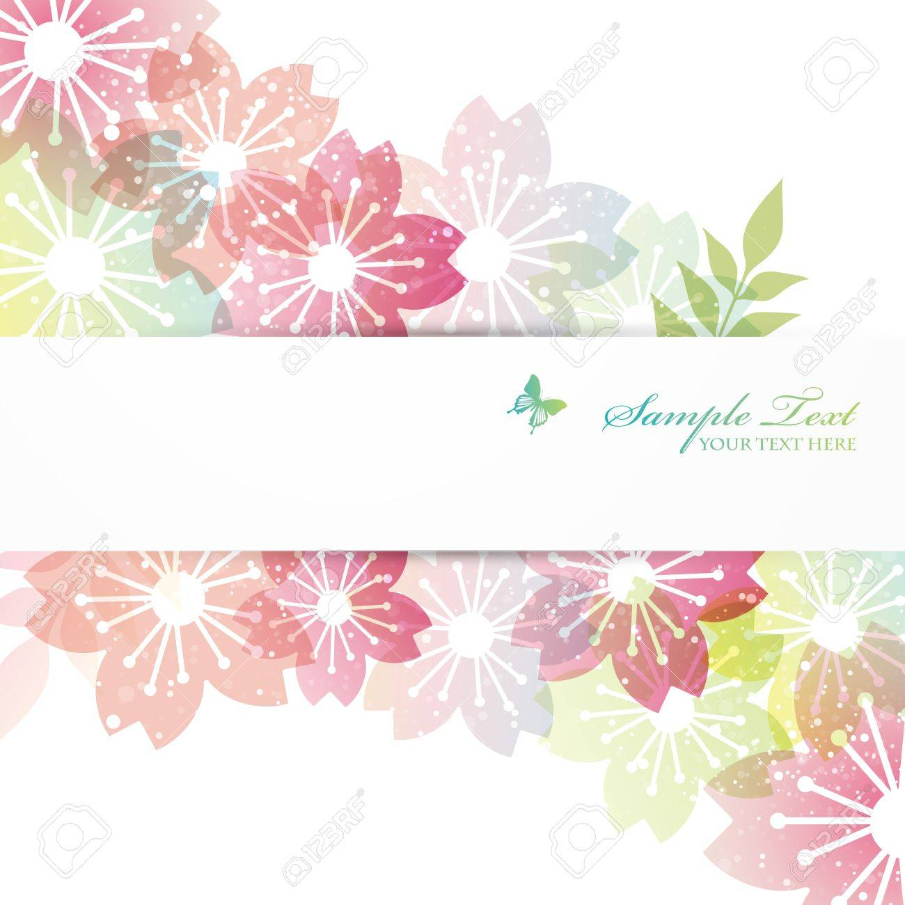 cherry blossom flowers background - 17476916