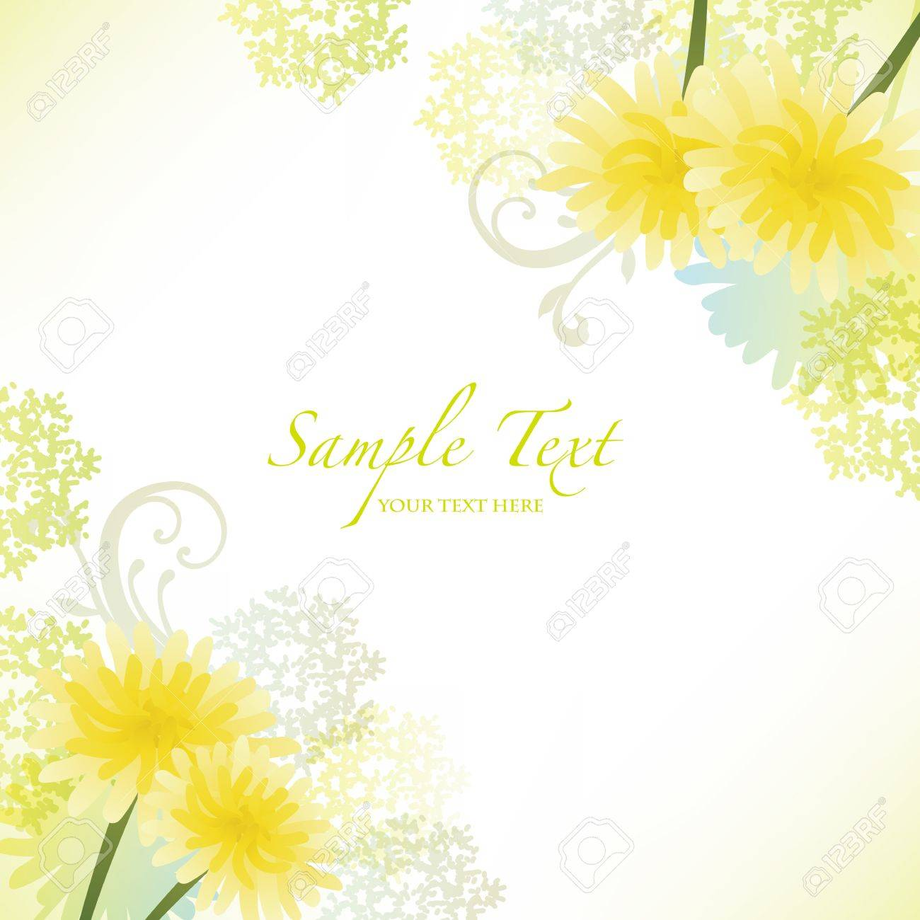 spring background with dandelion - 17476917