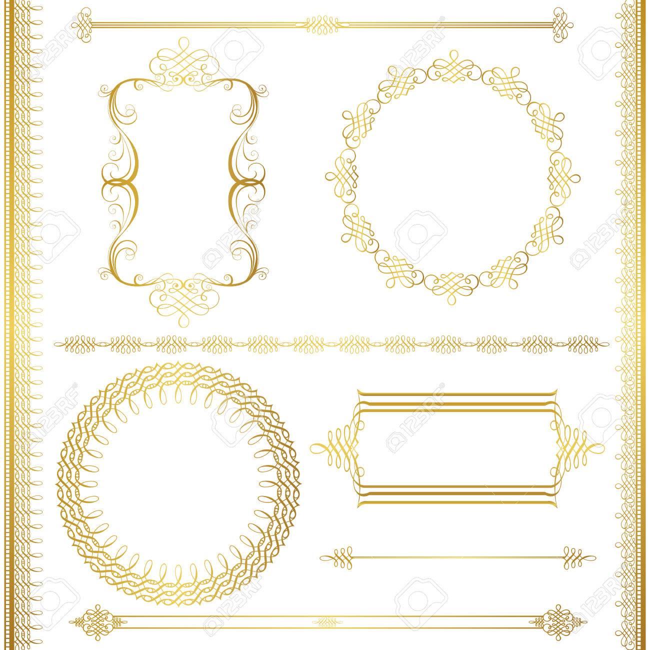 gold frame set - 38330429