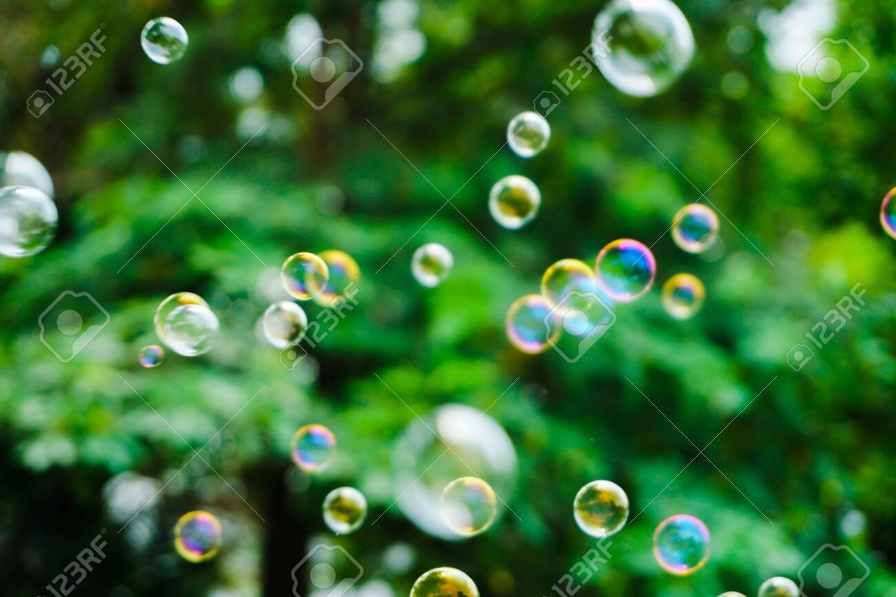 The Beautiful Nature Soap Bubble Texture Background And Wallpaper