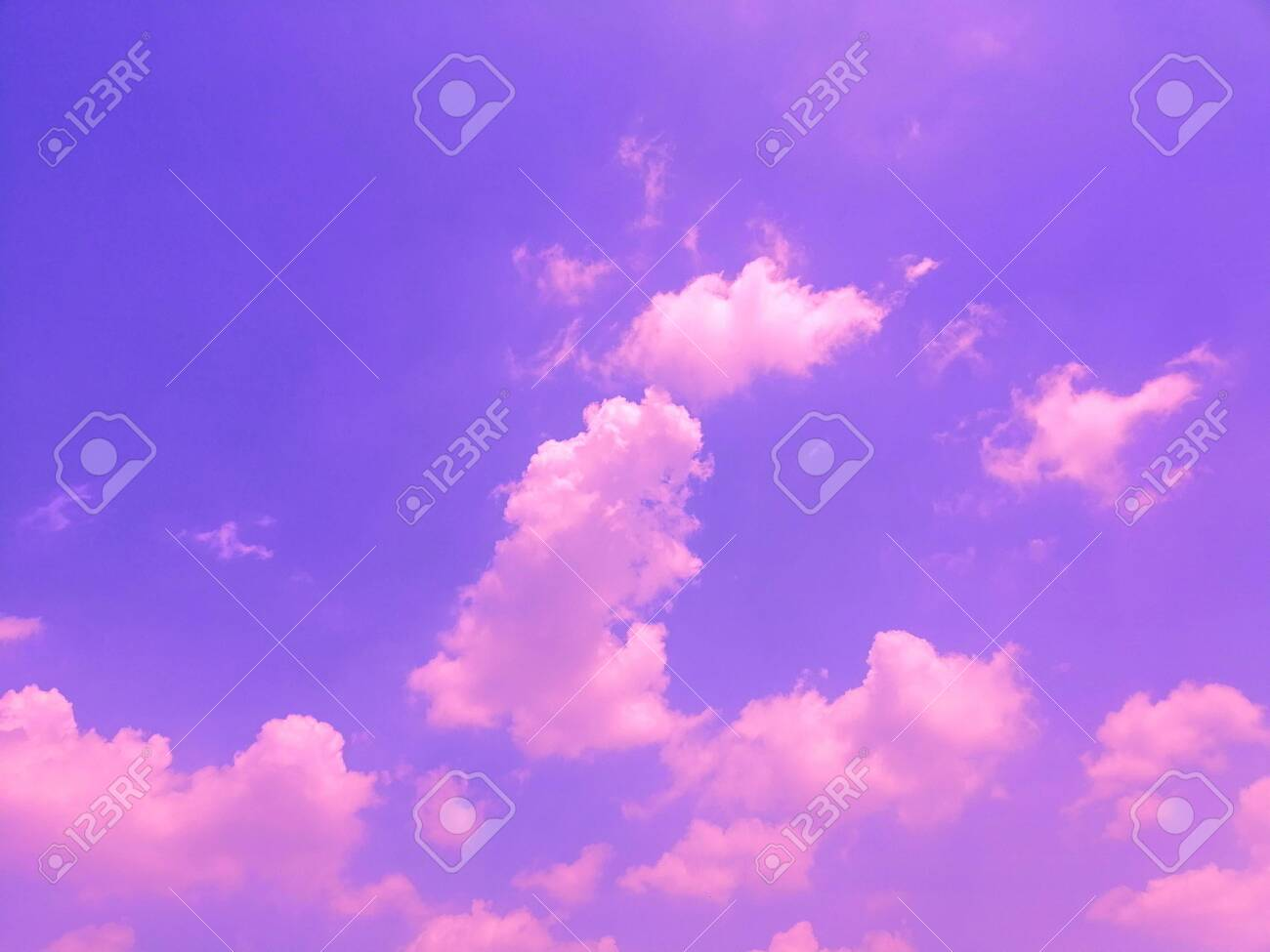 Beautiful Abstract Pink And Blue Sky Landscape Background And