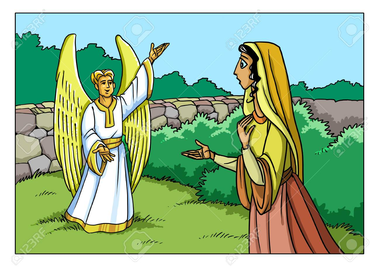 The Angel Gabriel Appeared To The Virgin Mary And Informs Her
