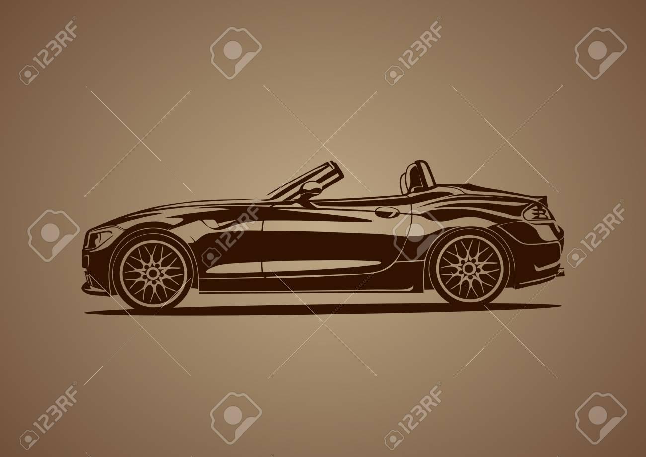 Brown hot sport car Stock Vector - 19453142