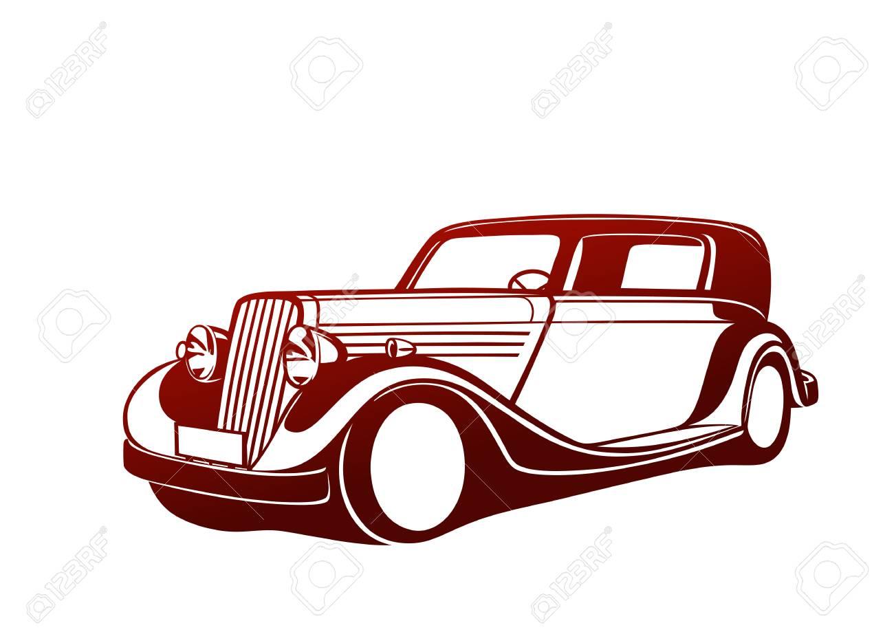 赤のクラシックカーのイラスト素材ベクタ Image 24641298