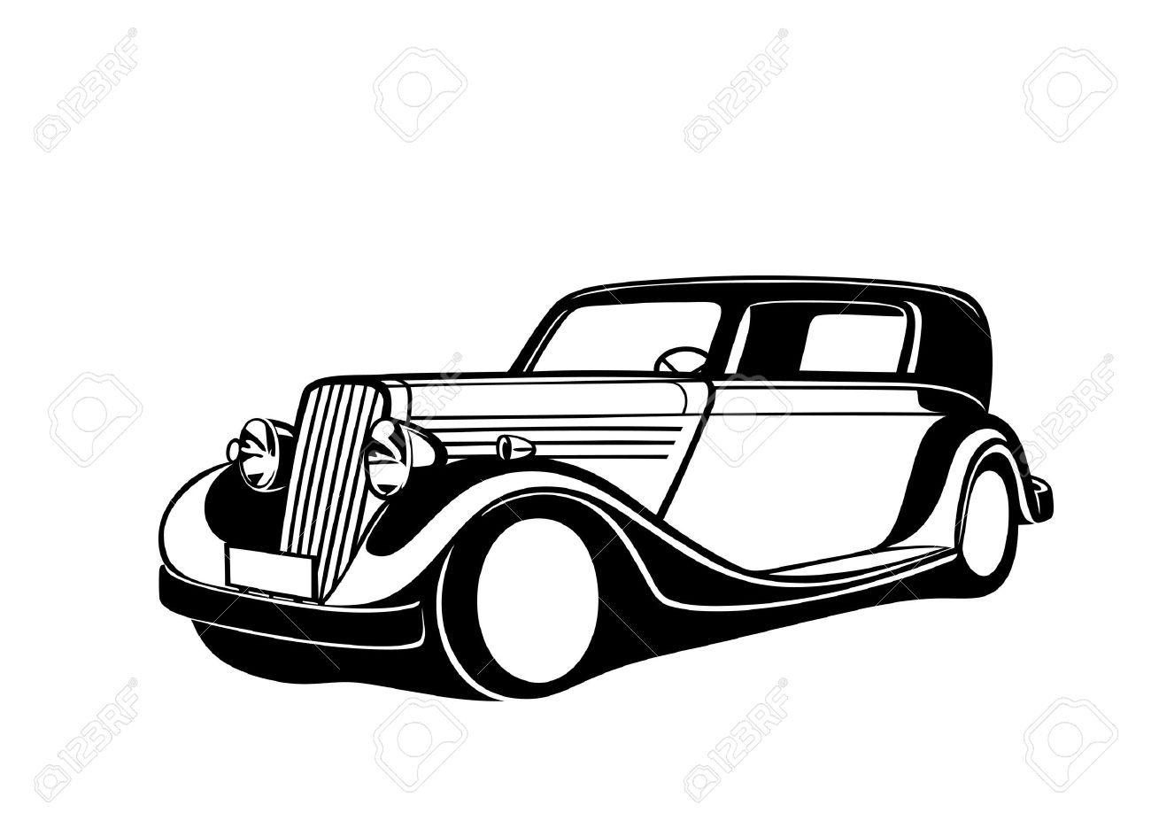 black classic car royalty free cliparts vectors and stock rh 123rf com classic car logo vector classic car vector art free