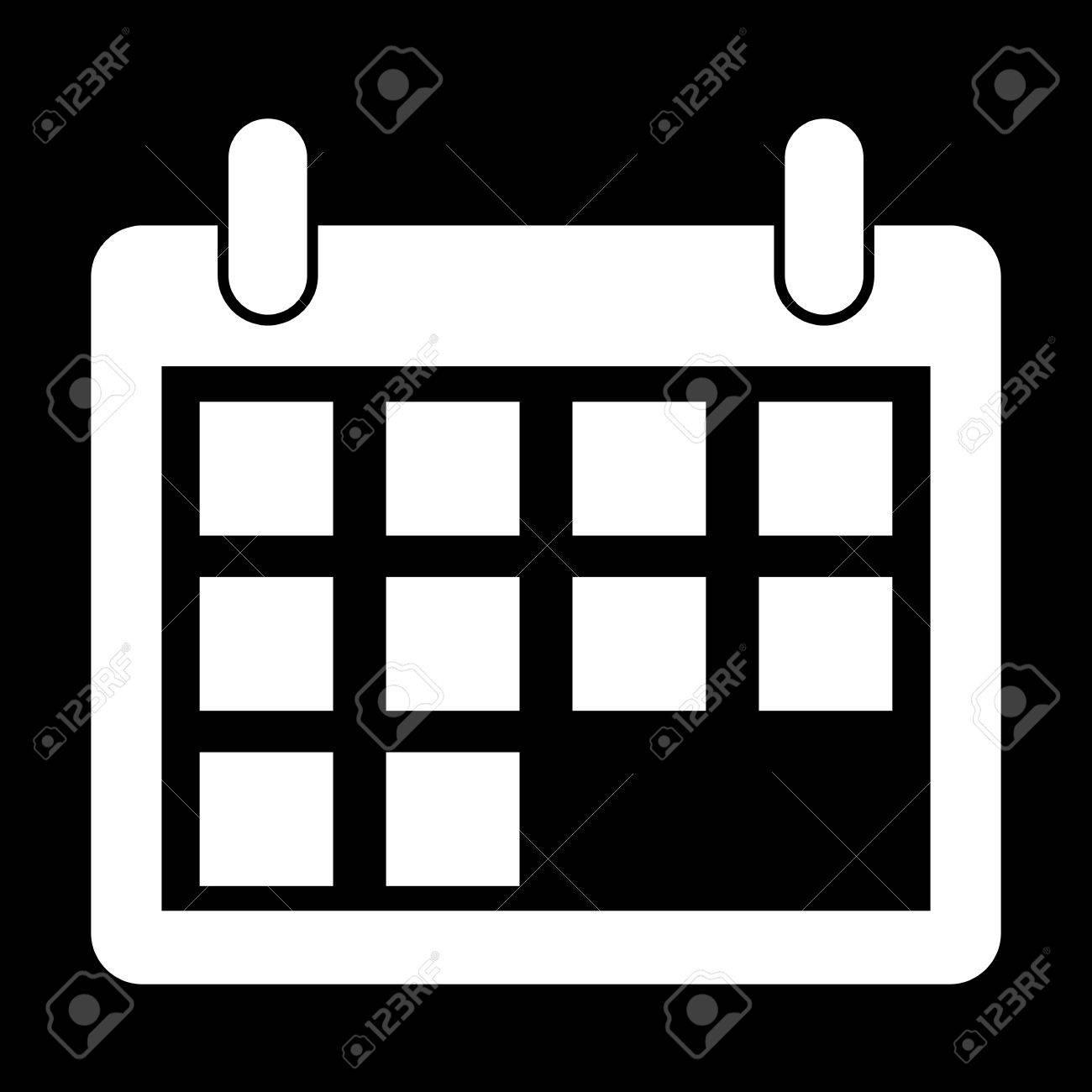 white calendar icon white on the black royalty free cliparts