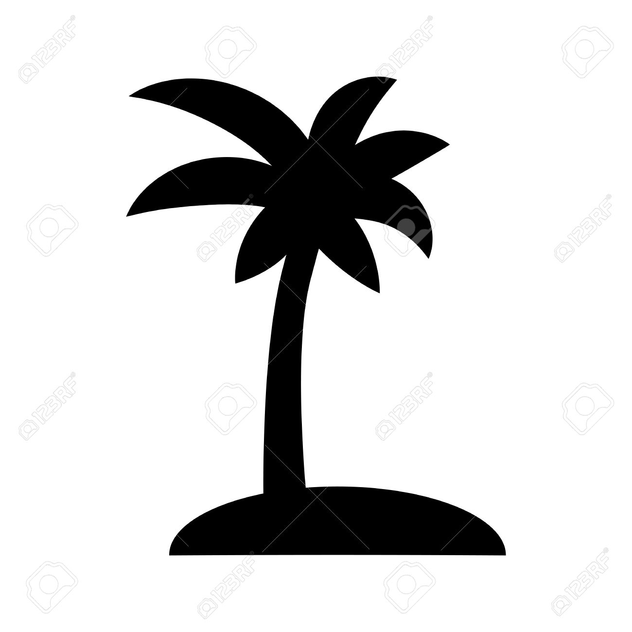 coconut palm tree black silhouette isolated on a white background rh 123rf com palm tree free vector art palm tree leaves free vector