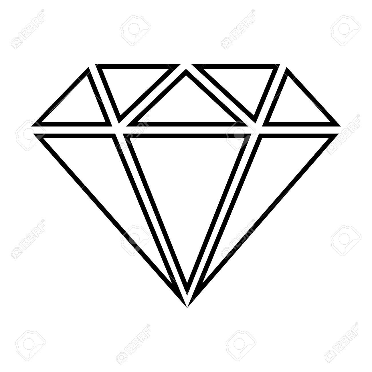 diamond line icon vector illustration on white background royalty rh 123rf com diamond vector pattern diamond vector free