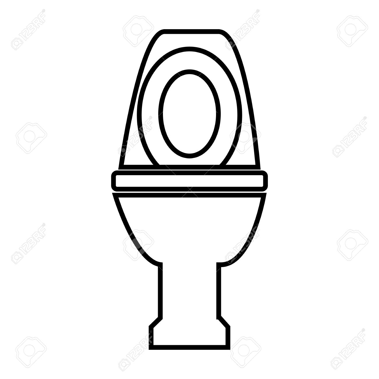 Toilet line icon  Vector illustration on white background Stock Vector    50823818. Toilet Line Icon  Vector Illustration On White Background Royalty