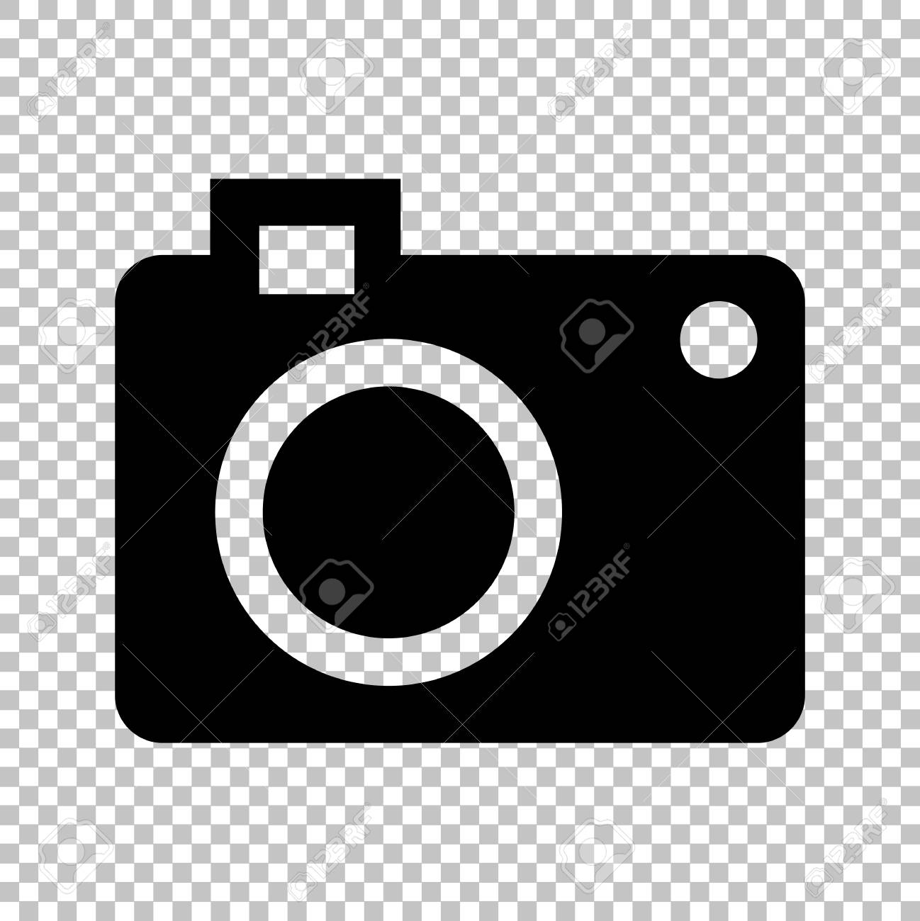 digital camera icon flat style icon on transparent background