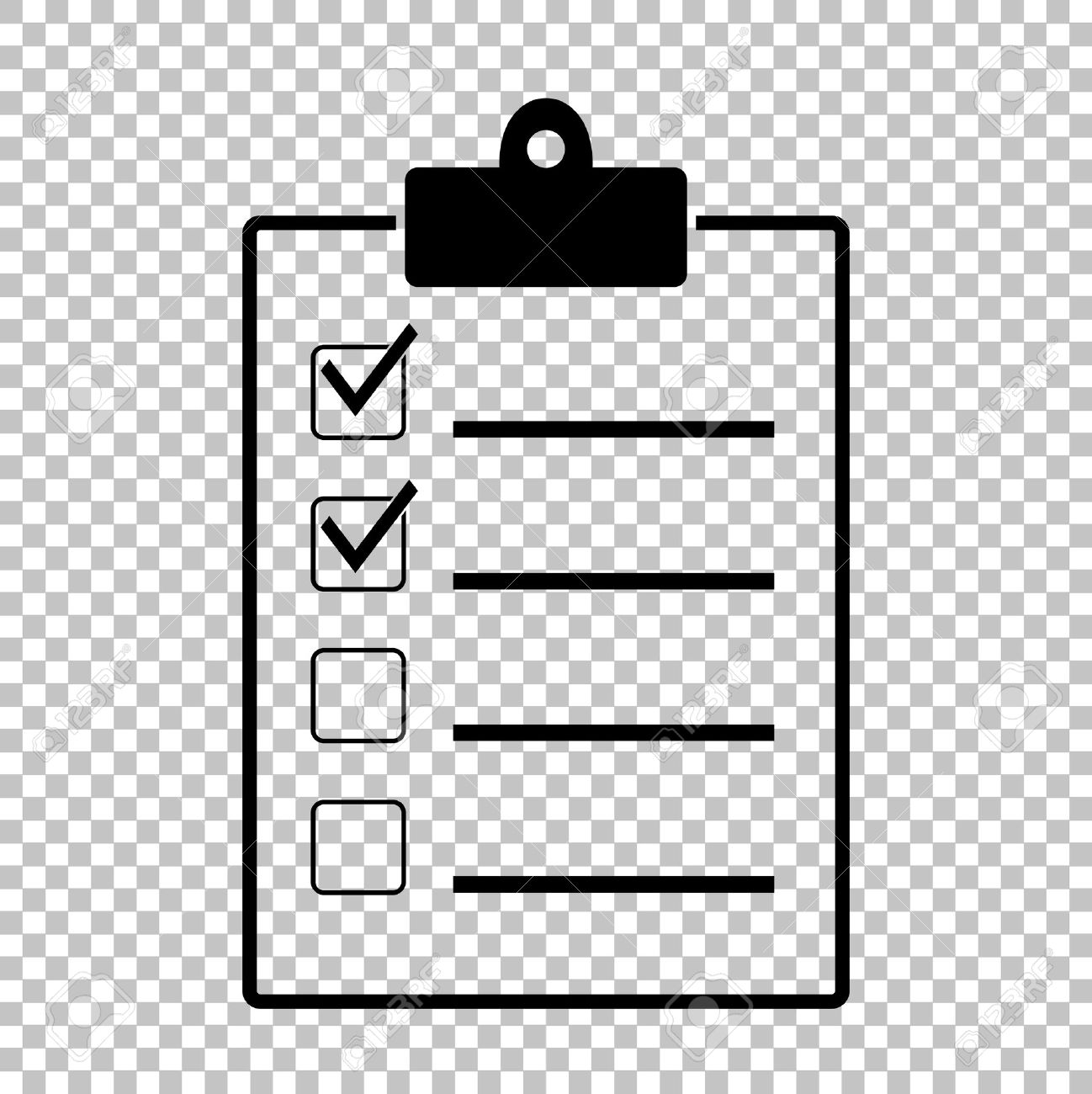 checklist sign. flat style icon on transparent background royalty
