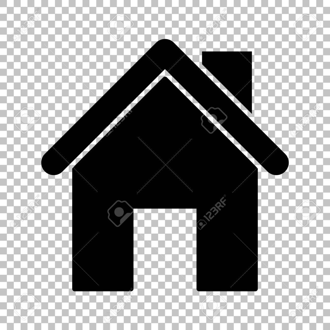 Home Silhouette Flat Style Icon On Transparent Background Royalty Free Cliparts Vectors And Stock Illustration Image 52172864