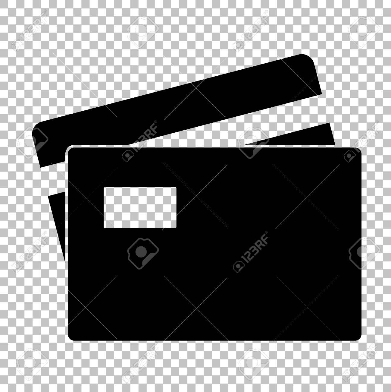 credit card sign flat style icon on transparent background royalty