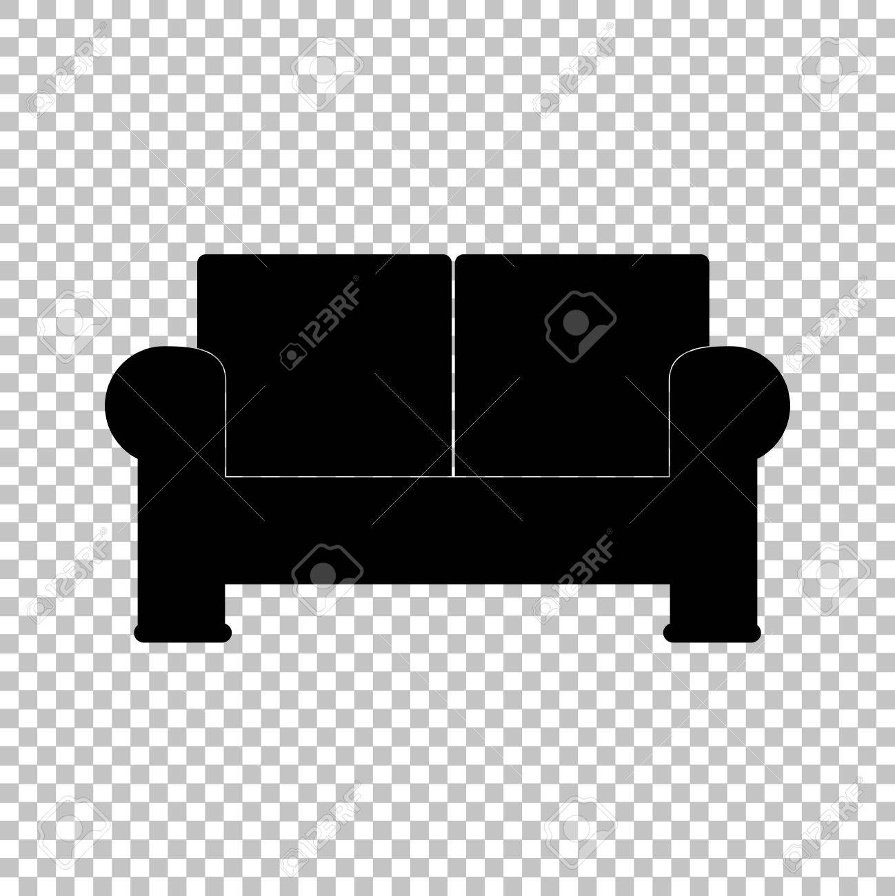 Outstanding Sofa Sign Flat Style Icon On Transparent Background Theyellowbook Wood Chair Design Ideas Theyellowbookinfo