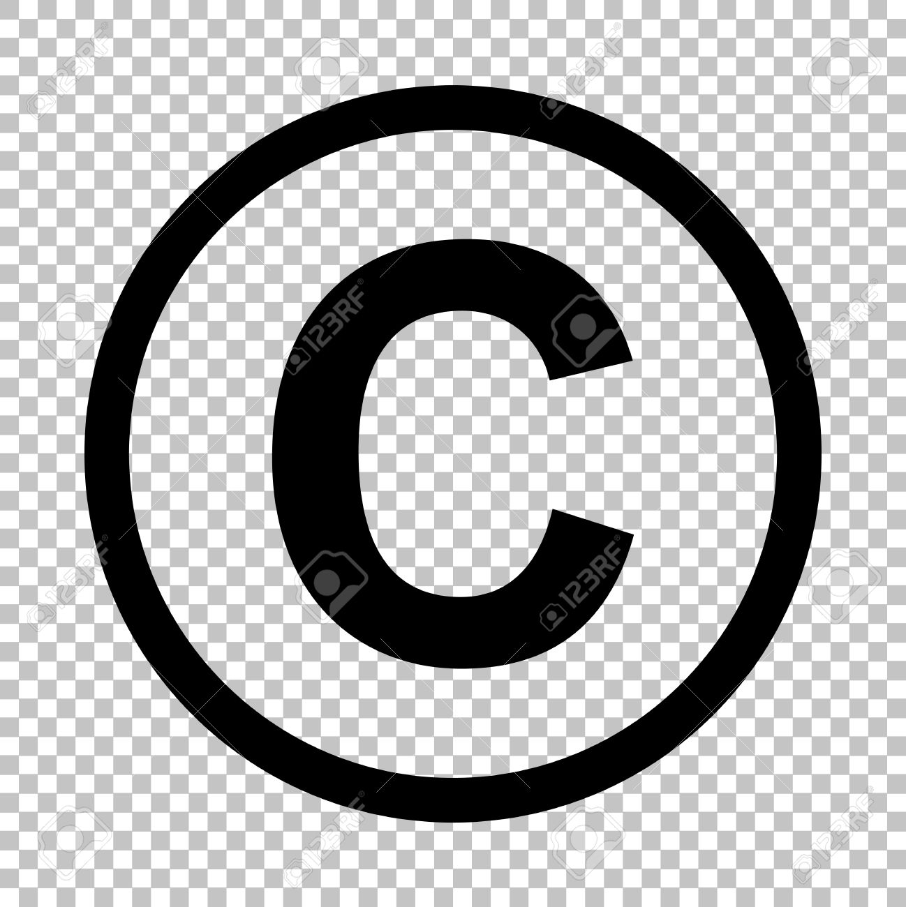 copyright sign flat style icon on transparent background royalty Copyright Warning copyright sign flat style icon on transparent background stock vector 52180934