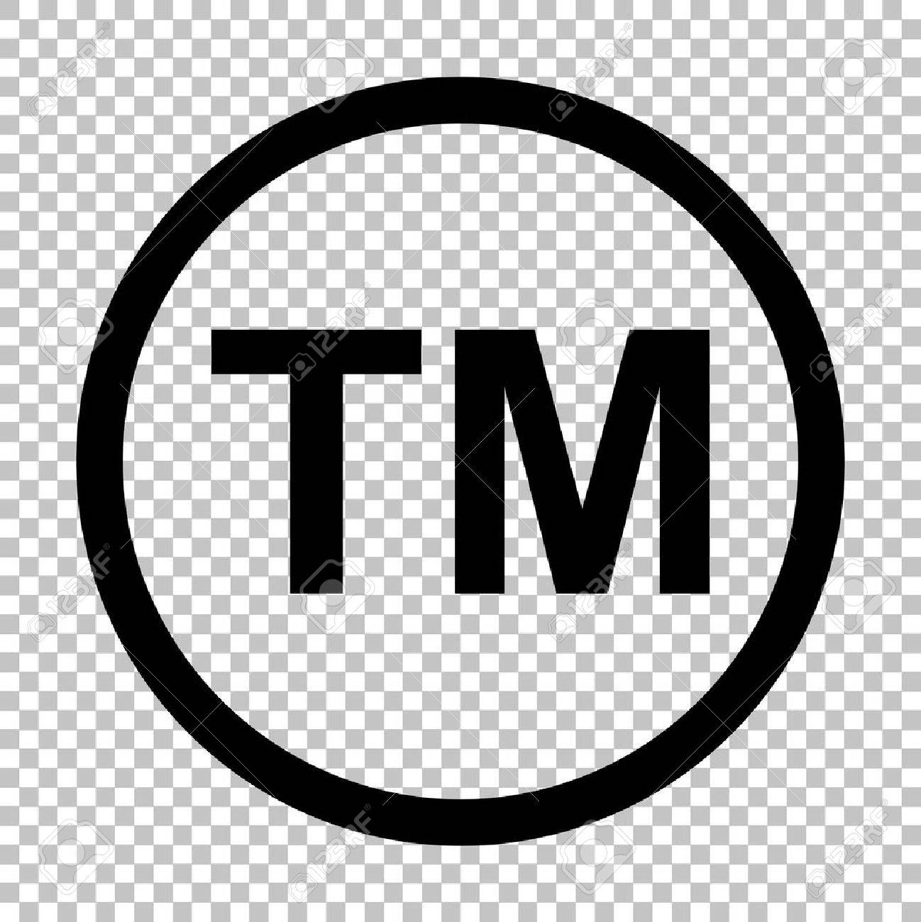 Trade mark sign. Flat style icon on transparent background - 52180935