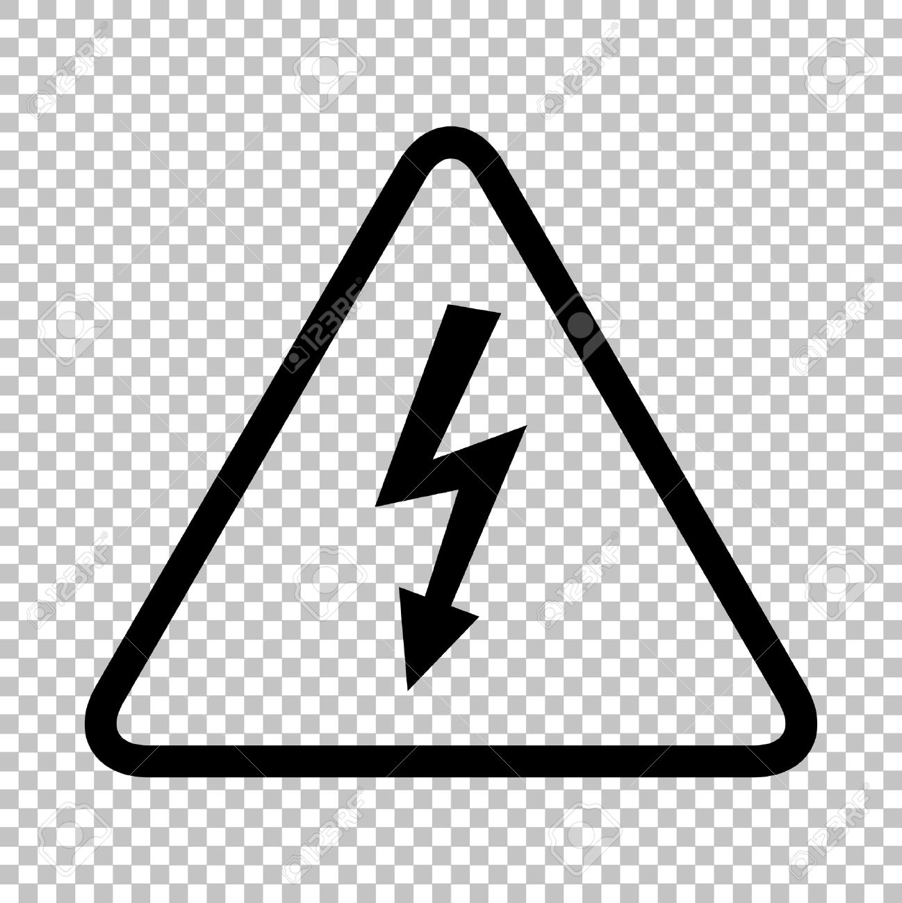 High voltage danger sign flat style icon on transparent high voltage danger sign flat style icon on transparent background stock vector 52181125 buycottarizona