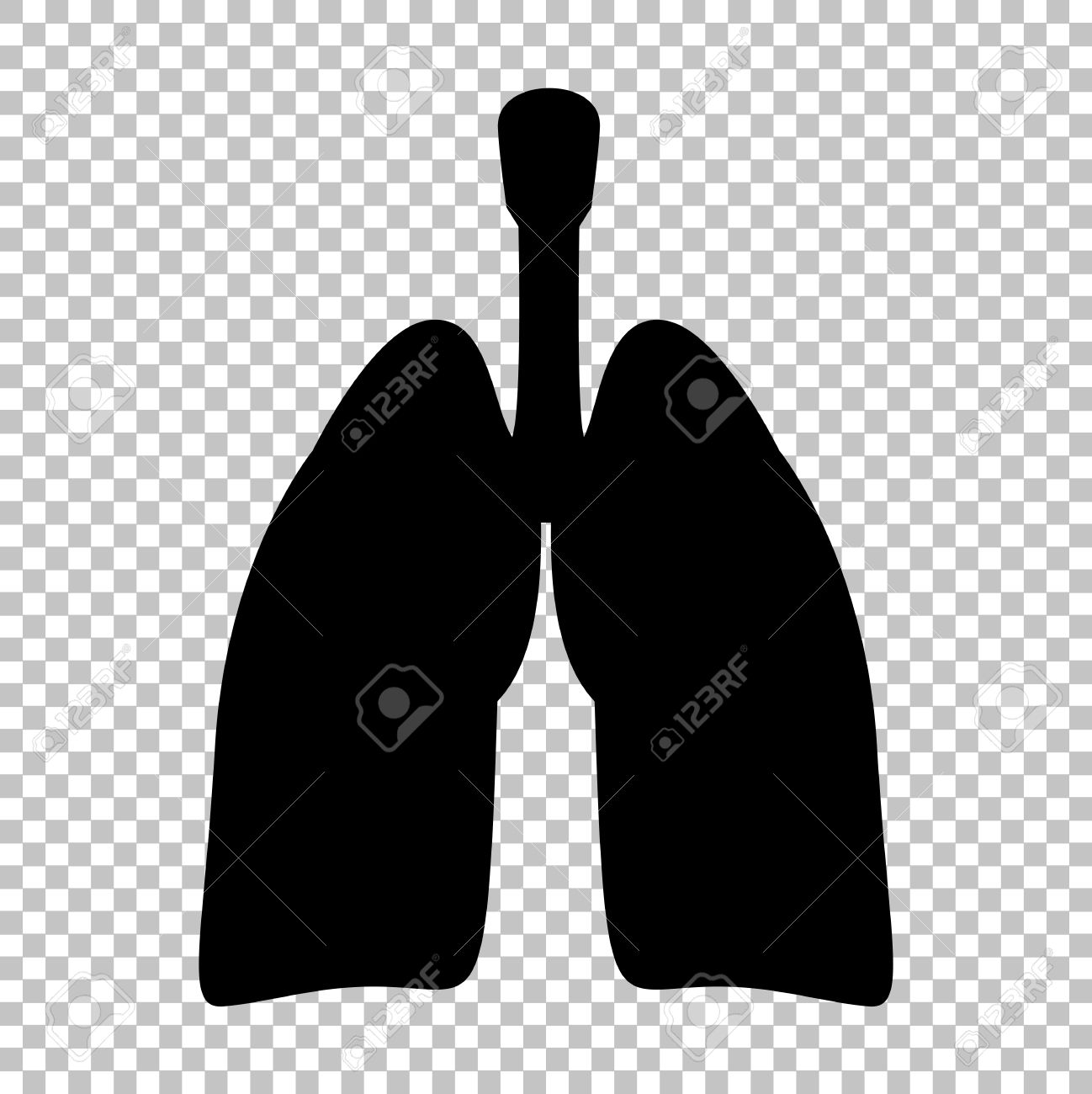 Human Organs Lungs Sign Flat Style Icon On Transparent Background Royalty Free Cliparts Vectors And Stock Illustration Image 52182247 Vector collage of human icon done of round pixels. 123rf com