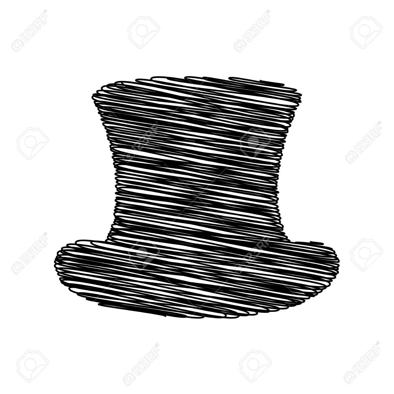 Top hat sign. Flat style icon on transparent background Stock Vector -  52563632 f8fe388c02c