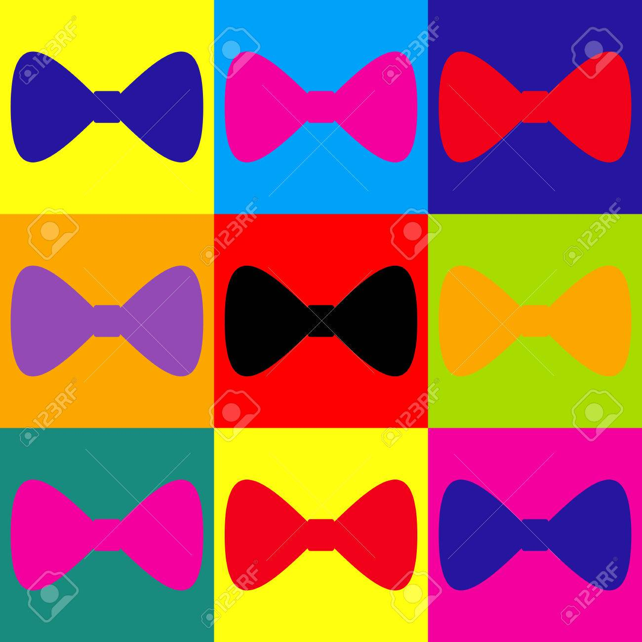Bow tie icon pop art style colorful icons set royalty free bow tie icon pop art style colorful icons set stock vector 56830768 voltagebd Choice Image