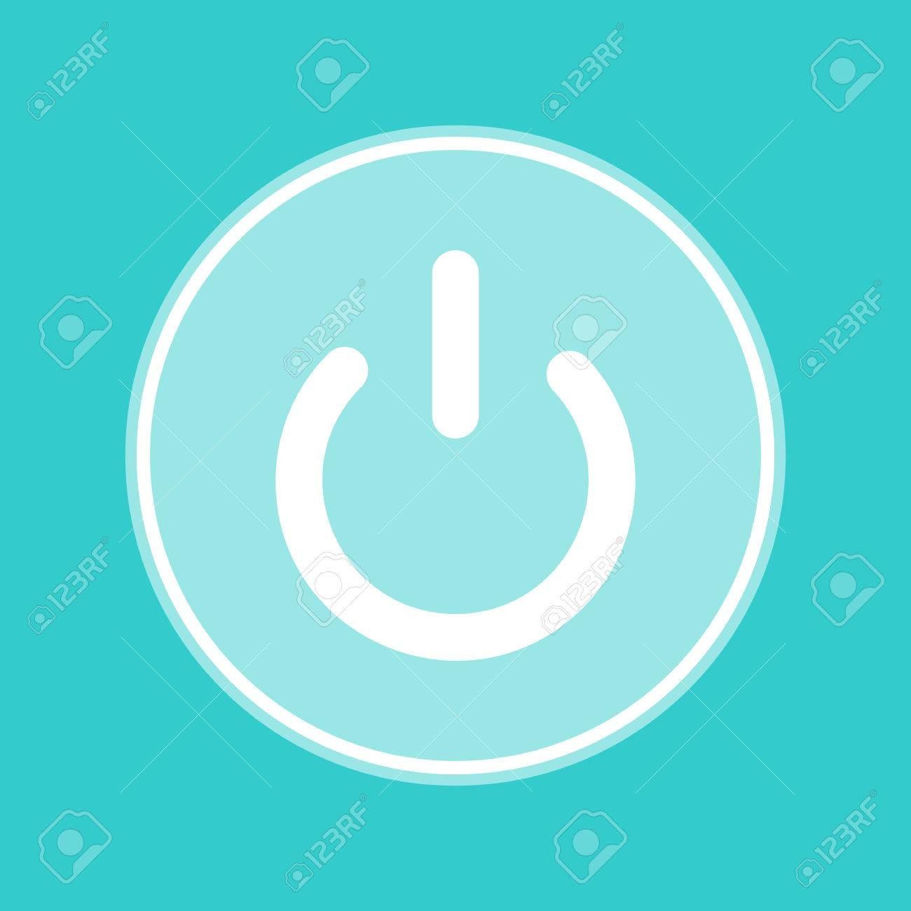 Ein Aus-Schalter Zeichen. Weiß-Symbol Mit Weißlich Hintergrund Auf ...