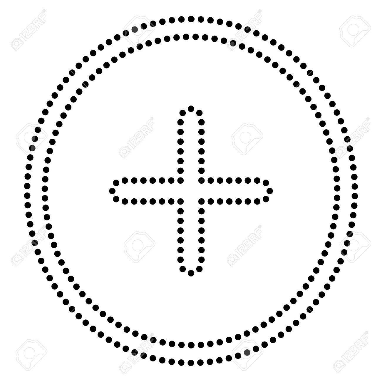 Positive symbol plus sign dot style or bullet style icon on positive symbol plus sign dot style or bullet style icon on white stock vector biocorpaavc Choice Image