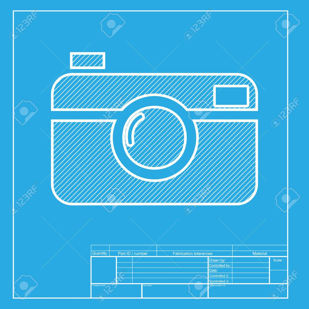 Digital photo camera sign white section of icon on blueprint digital photo camera sign white section of icon on blueprint template stock vector malvernweather Image collections