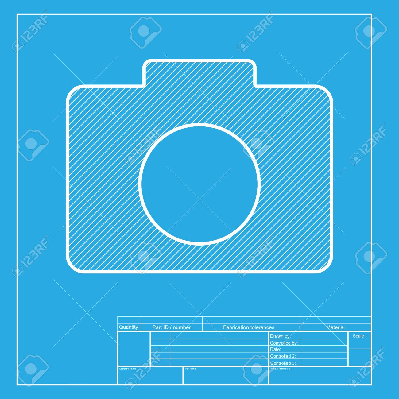 Digital camera sign white section of icon on blueprint template digital camera sign white section of icon on blueprint template stock vector 58741805 malvernweather Choice Image
