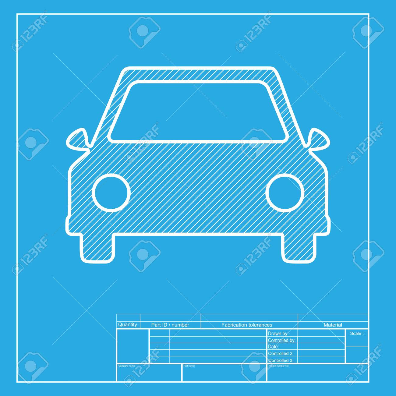 Car sign illustration white section of icon on blueprint template car sign illustration white section of icon on blueprint template stock vector 58751134 malvernweather Choice Image