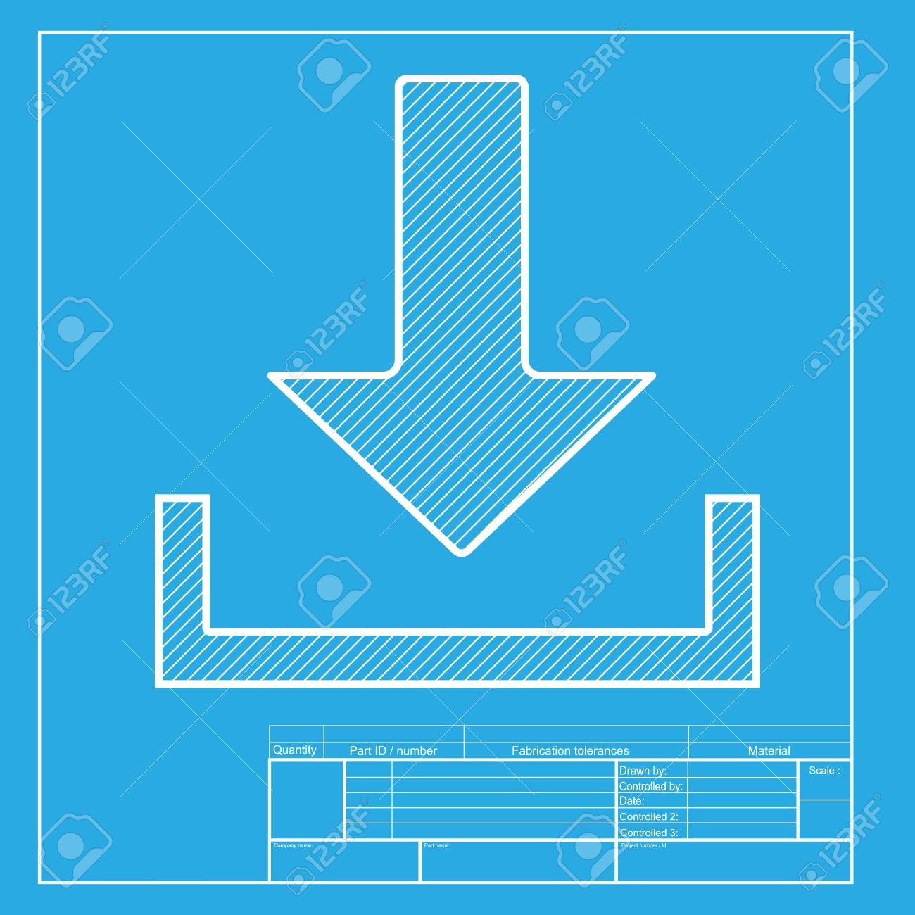 Download sign illustration white section of icon on blueprint download sign illustration white section of icon on blueprint template stock vector 58751079 malvernweather Image collections