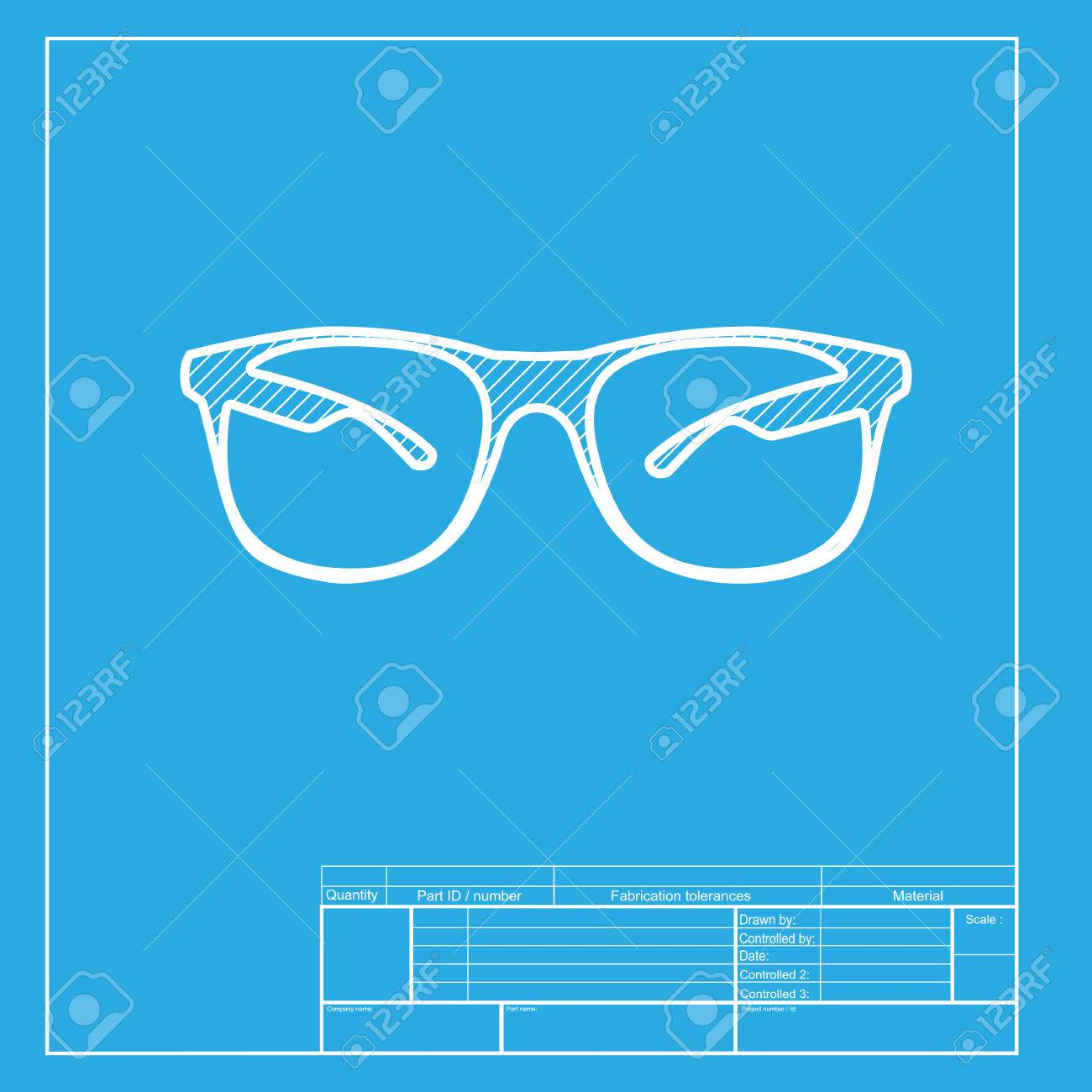 De Gafas En Icono Sol La Blanca MuestraSección Del Ilustración H9E2ID