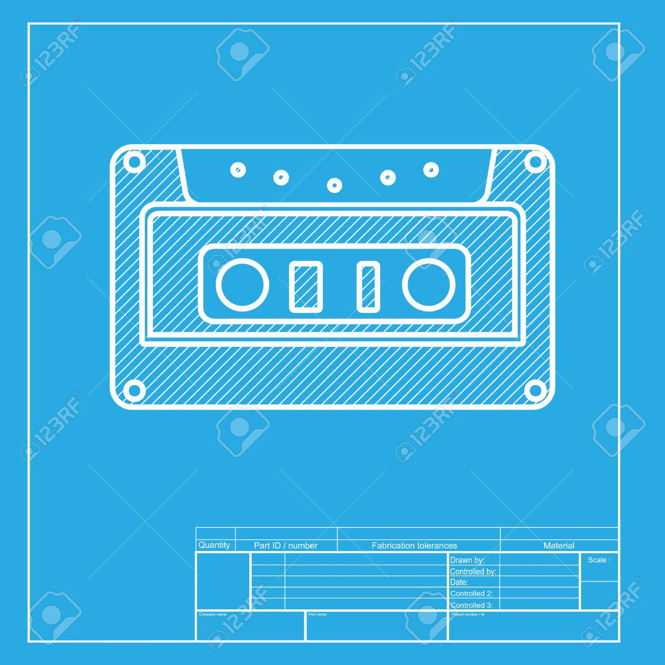 Cassette icon audio tape sign white section of icon on blueprint cassette icon audio tape sign white section of icon on blueprint template stock malvernweather Image collections