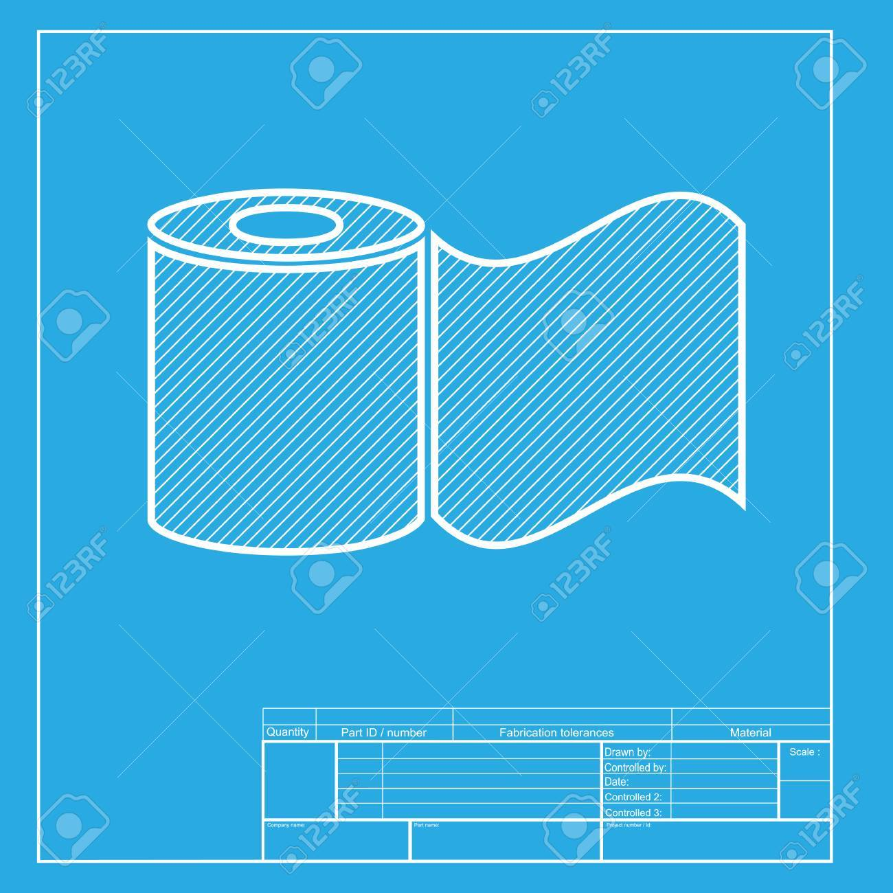 Toilet paper sign white section of icon on blueprint template toilet paper sign white section of icon on blueprint template stock vector 58754842 malvernweather Images