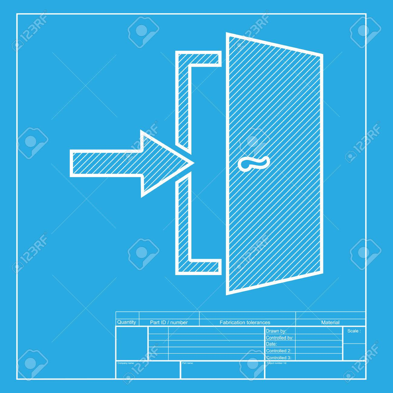 blueprint door icon u0026 door blueprint symbol