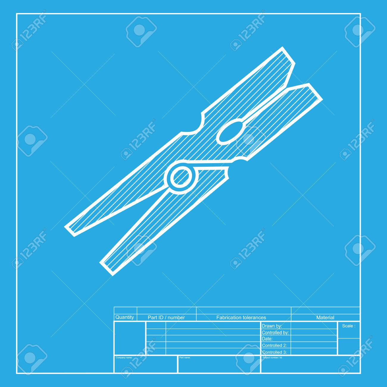 Clothes peg sign white section of icon on blueprint template clothes peg sign white section of icon on blueprint template stock vector 58755657 malvernweather Choice Image