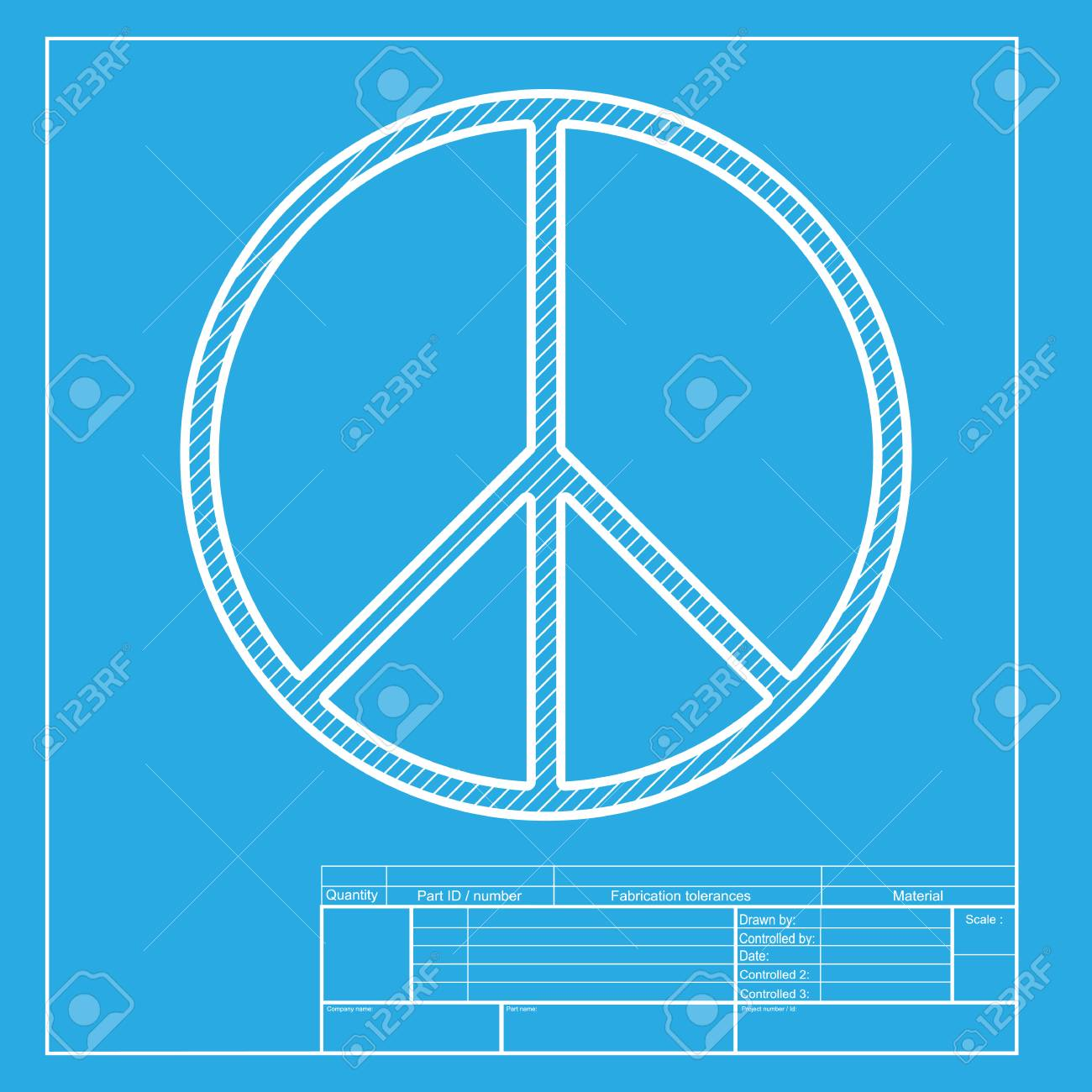 Peace sign illustration white section of icon on blueprint template peace sign illustration white section of icon on blueprint template stock vector 58755247 maxwellsz
