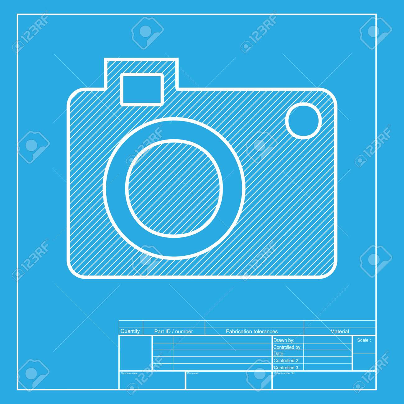 Digital camera sign white section of icon on blueprint template digital camera sign white section of icon on blueprint template stock vector 58755489 malvernweather Choice Image
