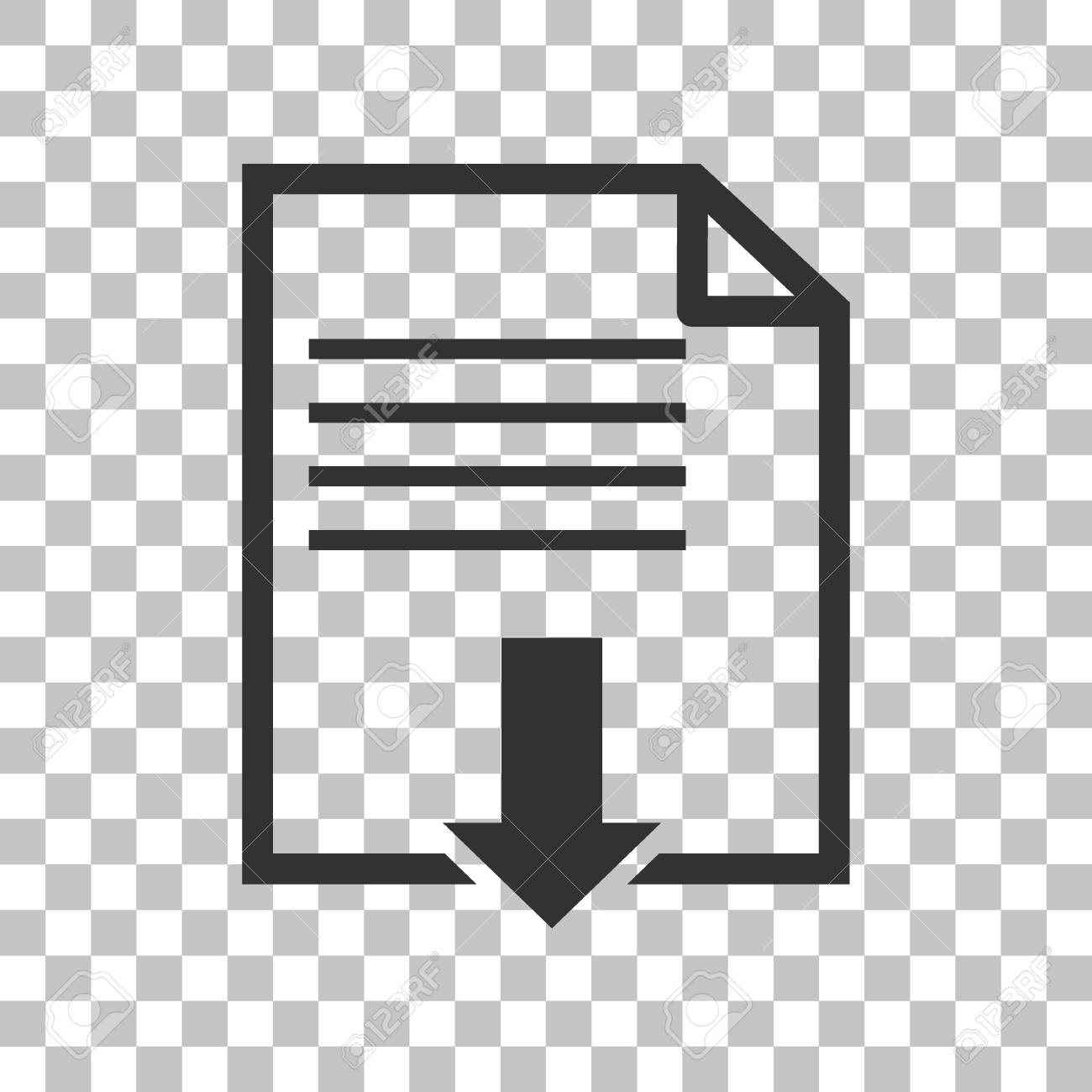 File download sign  Dark gray icon on transparent background