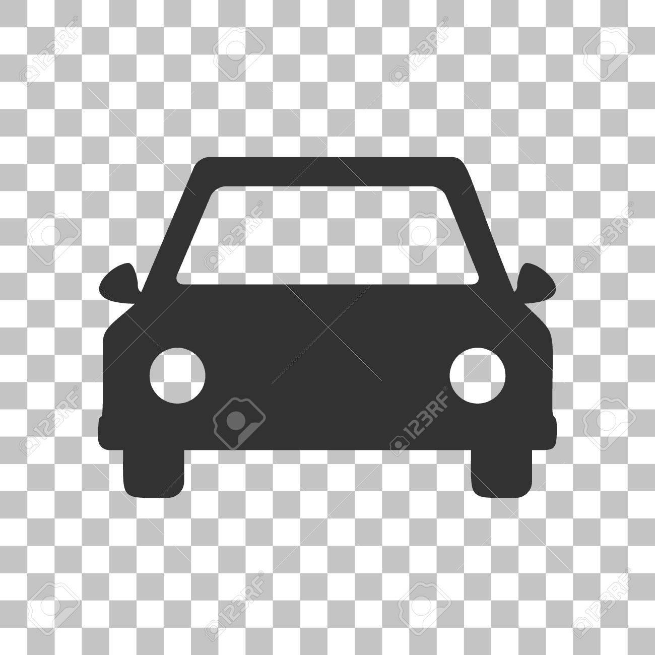 Car Sign Illustration Dark Gray Icon On Transparent Background Stock Vector