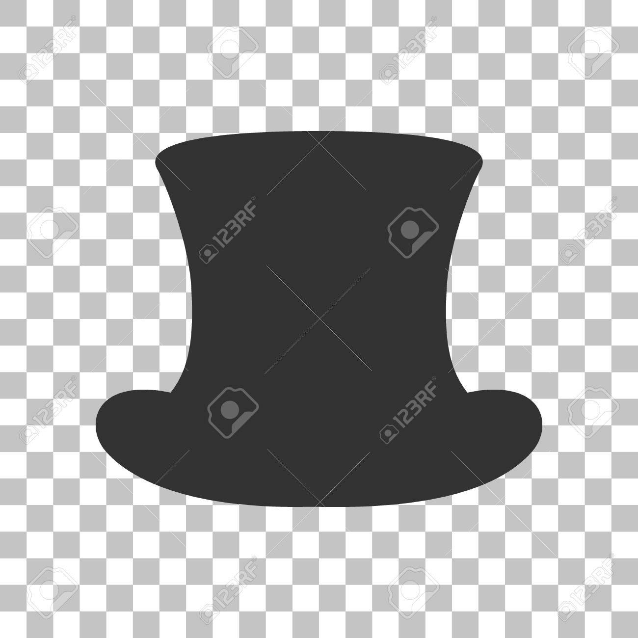 Top hat sign. Dark gray icon on transparent background. Stock Vector -  59063833 887cf41eefe